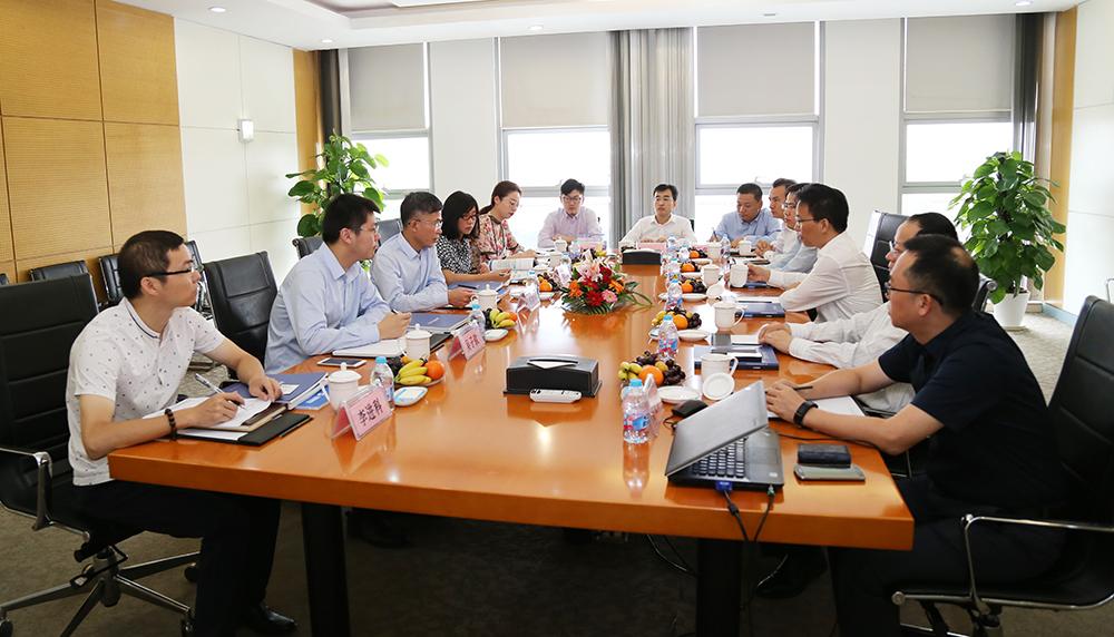 刘载望董事长会见恒大集团副总裁许建华一行,加深双方合作共赢