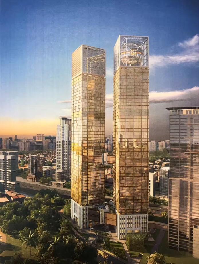 印度尼西亚Indonesia 1 Towers双子塔幕墙工程