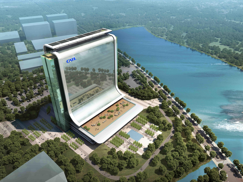 崛起绿色动力——宁德新能源锂离子动力电池科技大楼幕墙工程顺利进入收尾阶段