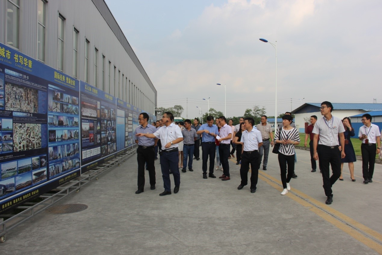 Government Officials of Qingbaijiang District of Chengdu City Visit Southwest Region Branch of Jangho Curtain Wall Co., Ltd.