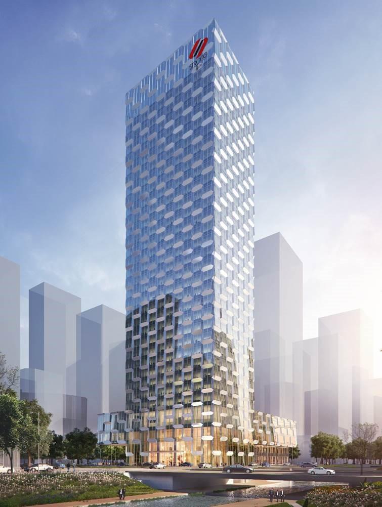 新标新视觉 超美超震撼——喜之郎大厦幕墙工程进入大面积施工阶段